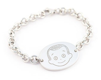 Bracelet Otto oval pure silver 925