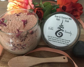 Rose & Coconut Milk Bath Soak - Bodhi Remedy | Organic | Essential Oils | Vegan | Botanicals