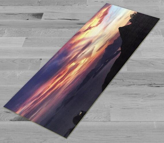 Victoria Peak Sunset Yoga Mat by PimpMyYogaMat