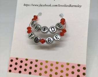 Bride-to-Be Wine Glass Charm