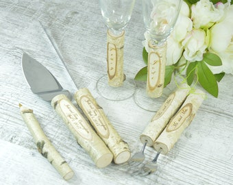 Rustic wedding Cake serving set Cake knife set Unity Candle set Cake Knife Serving Set Cake Servers Cutter Set Burlap Wedding Set