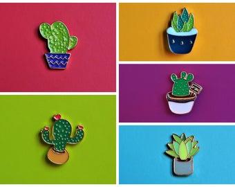 Enamel Pin Plants