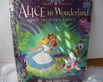 Alice In Wonderland Book, Little Golden Book Baby Shower, Disney's Alice In Wonderland, Little Golden Book, Bedtime Stories