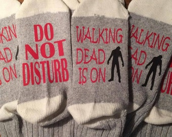 Do Not Disturb Walking Dead Is On Socks