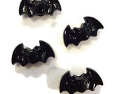Black Bat Shaped Pony Beads