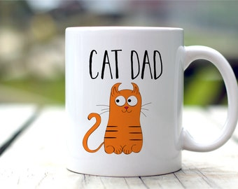 Cat Dad Mug, Cat Lovers Gift, Cat Coffee Mug