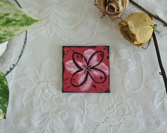 Whimsical & Decorative Pop Art Flower - Red