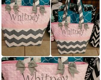 Pink/Grey Diaper Bag