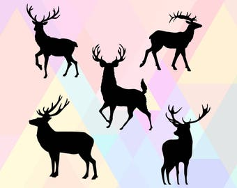 Deer SVG File | Deer Cricut SVG | Deer Cut File Svg | Deer Clipart Svg | Deer Dxf | Deer Cutting File | Deer Png | Deer Vector | Deer Eps