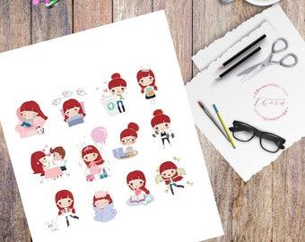 Cute Graphics Planner Sticker Kit