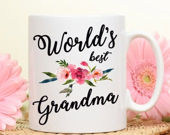 World's Best Grandma, Best Grandma, Grandma mug, Mothers day gift, gift mug for grandma, coffee mug, grandma gift, grandma's mug, gift for