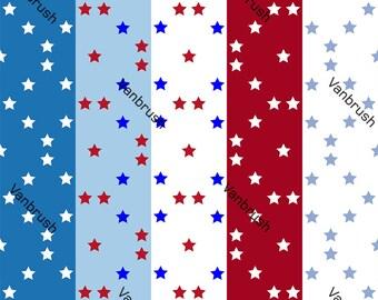 Star Patterns Scrapbooking printable digital paper download