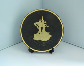 Damasquino Toledo Damascene 24 K Gold Plate - Flamenco Dancers - Toledo Spain