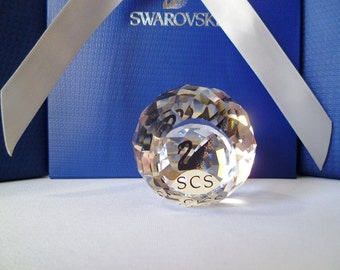 Swarovski Silver Crystal ~ Black/Blue Swan ~ Crystal SCS Paperweight- Swarovski Vintage Crystals