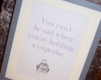 A4 Framed Cupcake picture