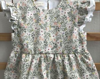 Cotton dress for girl, dress for girl, linen dress for girl, cotton girl's dress