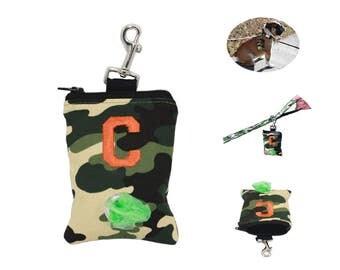 Personalized dog bag dispenser, waist bag, leash accessories, bag holder, dog walker.