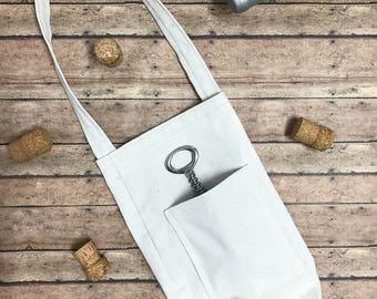 CUSTOM WINE BAG/ Handmade Canvas Wine Bag/ Wine Tote