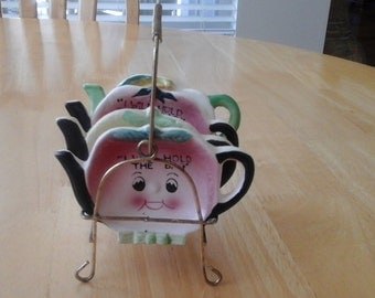 Anthropomorphic I will hold the Tea bag with rack 5 pc. set