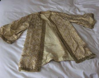 Gold Brocade Open Jacket