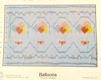Smocking plate Balloons heirloom sewing Mollie Jane Taylor design smocking patterns heirloom sewing instructions children's smocking