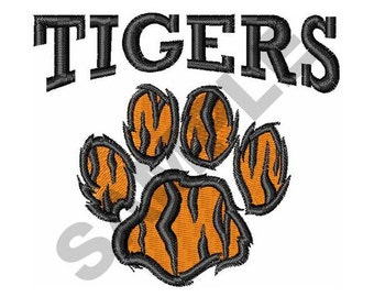 Tigers Paw - Machine Embroidery Design