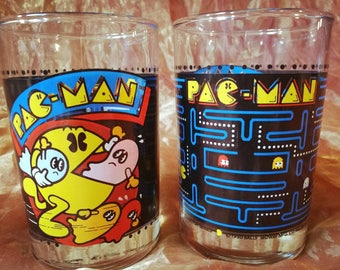 Pair of Pac-Man Collectable Glasses 1980s