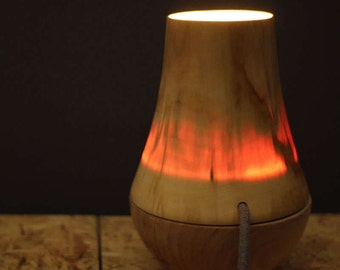 VETTO SMOB table lamp. Table lamp led of wood. Wood handmade lamp. Luminaire of table