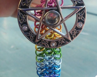 Chainmaille Pentacle Necklace