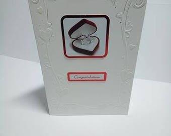 engagement card, wedding card, greeting card, handmade card, card and envelope, blank card, congratulations card, wedding gift, white card