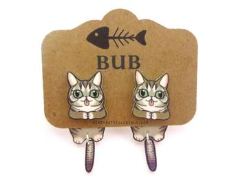 Lil Bub Inspired Cling Earring