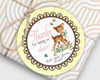 woodland baby shower favors little deer baby shower thank you tags