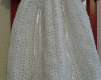 Baptism or ceremony for 6-9 months baby dress handmade crocheted