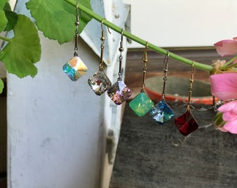 Swarovski Square (vintage) crystal earrings