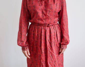 Vintage 70's Silk Dress