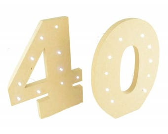 freestanding numbers, light up numbers, party decoration, fairy lights