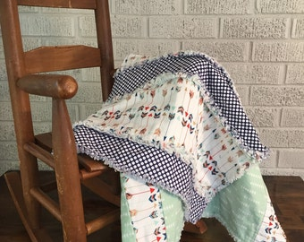 Baby Quilt. Ragged Edges. Baby Gift. Play Quilt. Lap Quilt. Baby Shower Gift.