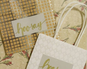 Personalized paper gift bags