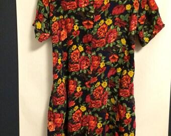 Vintage Women's Flowered Romper