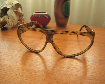 Vintage Yves Saint Laurent Brown Tortoise Glasses Frames