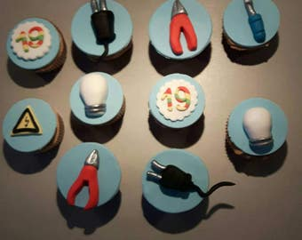 Electrician cupcake toppers
