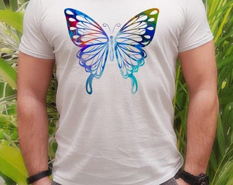 Beautiful t-shirt - Butterfly tee - Fashion men's apparel - Colorful printed tee - Gift Idea