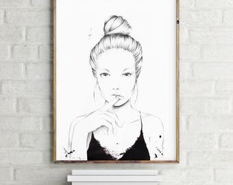 Illustration // Poster // Pencil // Fashion // Black // Drawing // DIN A3