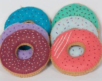 Set of 6 Donuts felt