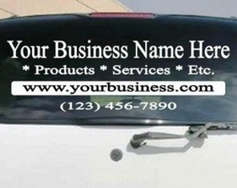 back window Business car Customized Decal