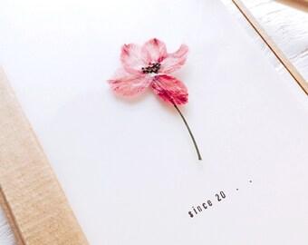 Press Flower Notebook - Delphinium