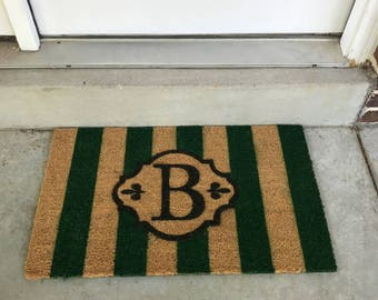 Personalized Striped Doormat