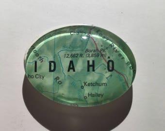 Map Magnet, Idaho, Idaho Magnet, Vintage Map Magnet, Handmade Magnet
