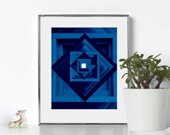 Geometric Wall Art Digital Download Abstract Art Printable Art Minimalist Art Modern Nursery Decor Geometric Artwork Scandi Poster Navy