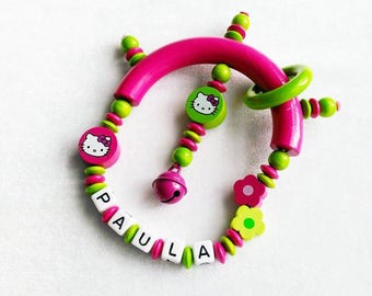 ♥ pink green Hello Kitty